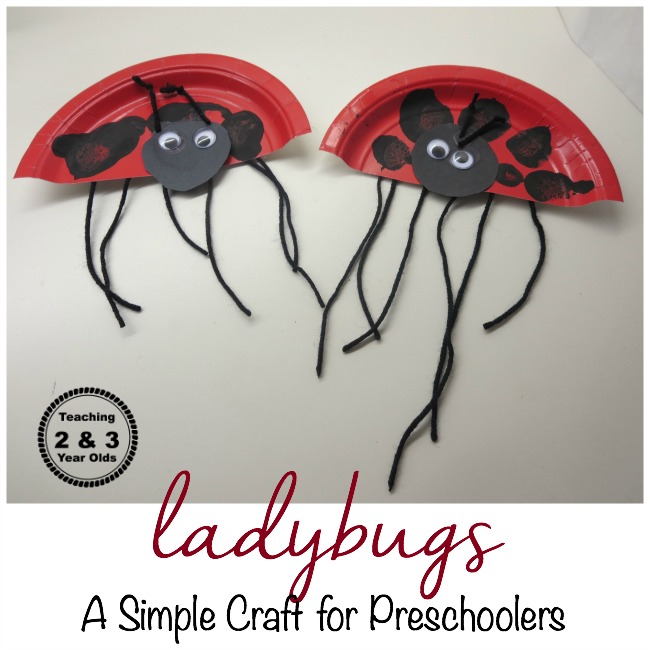Ladybugs: A Simple Counting Craft for Preschoolers