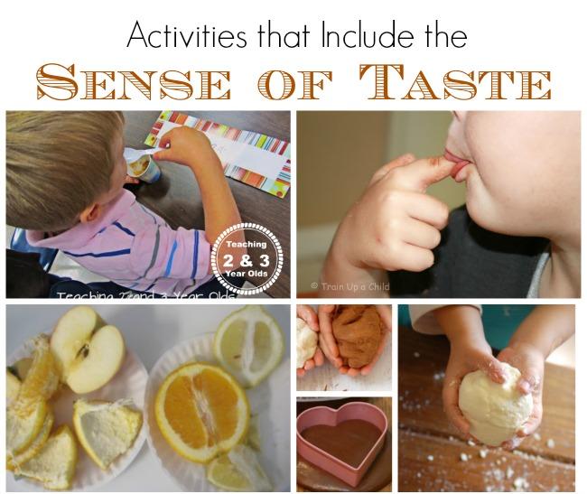 sense of taste activities
