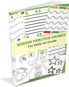 Preschool Scissor practice activities