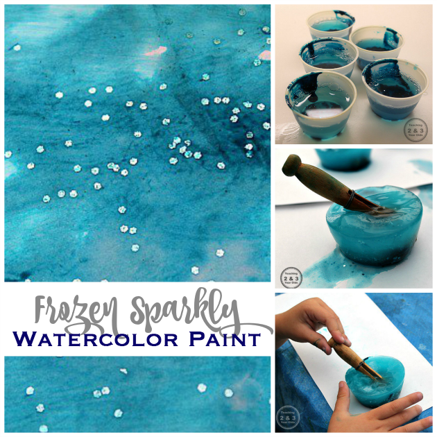 Make your own frozen watercolors