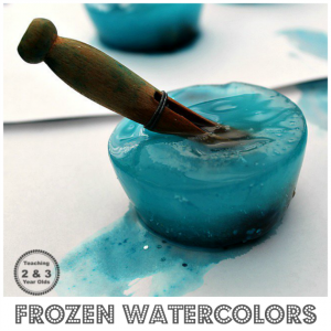 How to Make Frozen Sparkly Watercolors