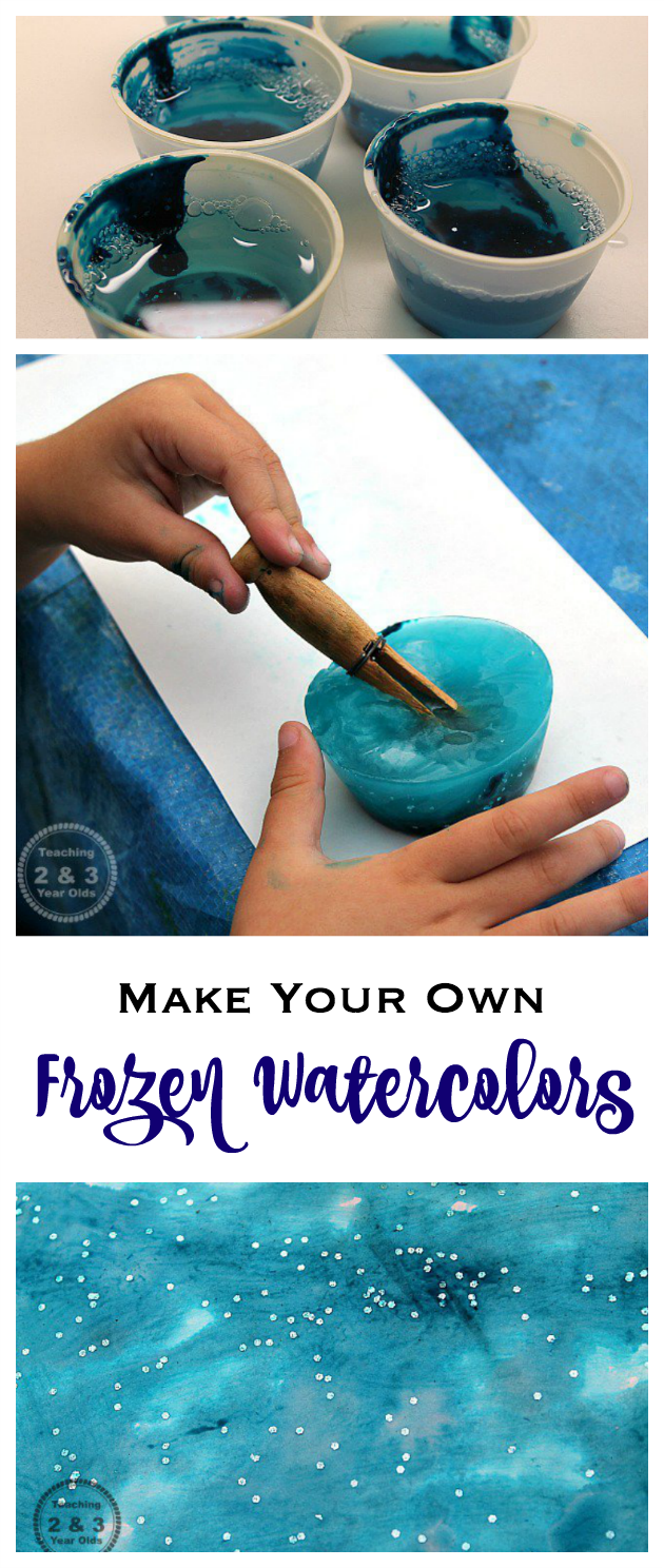 Make Your Own Frozen Watercolors - Fun for toddlers and preschoolers! Teaching 2 and 3 Year Olds