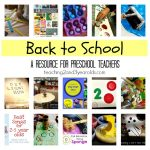 Back to school activities for preschool - a collection of activities, books and songs for the first weeks of school.