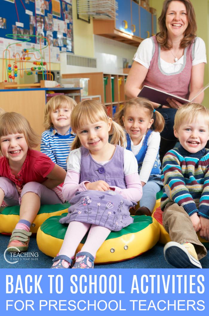 back to school activities for preschool teachers