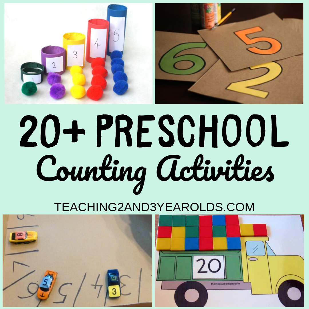 20+ Preschool Counting Activities for School and Home