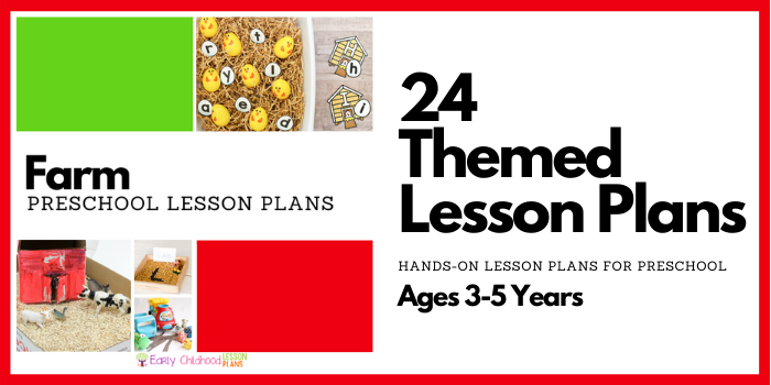 preschool lesson plans farm theme