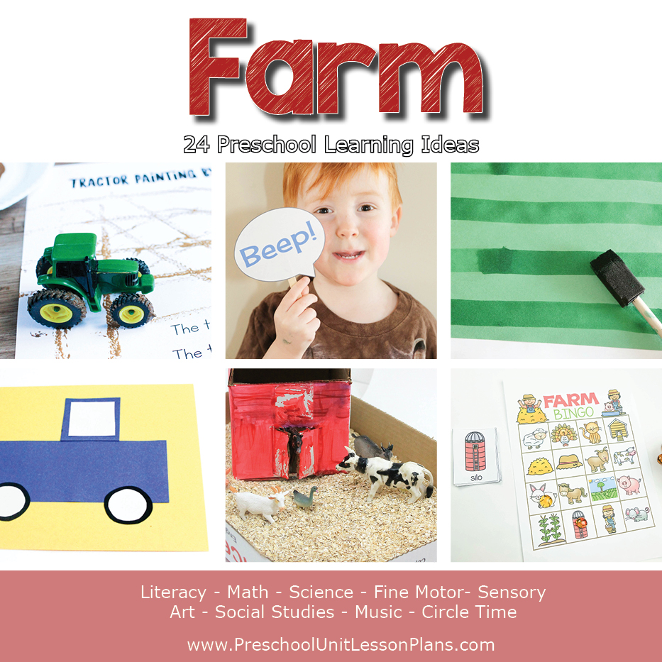 preschool farm lesson plans