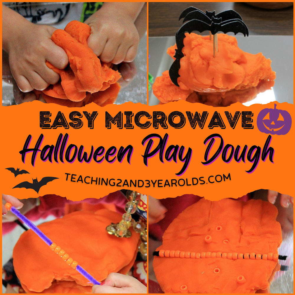 How to Make the Easiest Halloween Playdough that Requires No Cooking