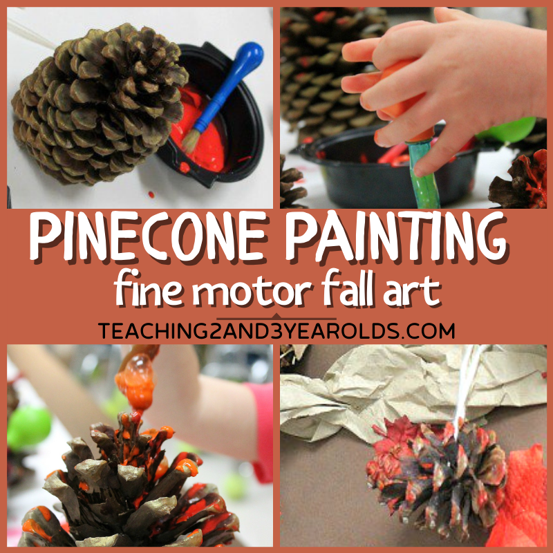 Try This Pine Cone Activity to Strengthen Toddler Fine Motor Skills