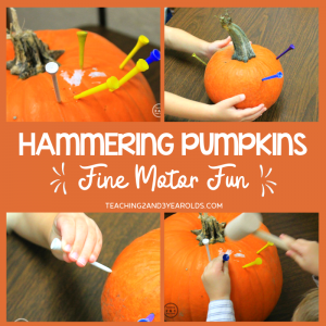 How to Put Together a Fine Motor Pumpkin Activity Using Hammers