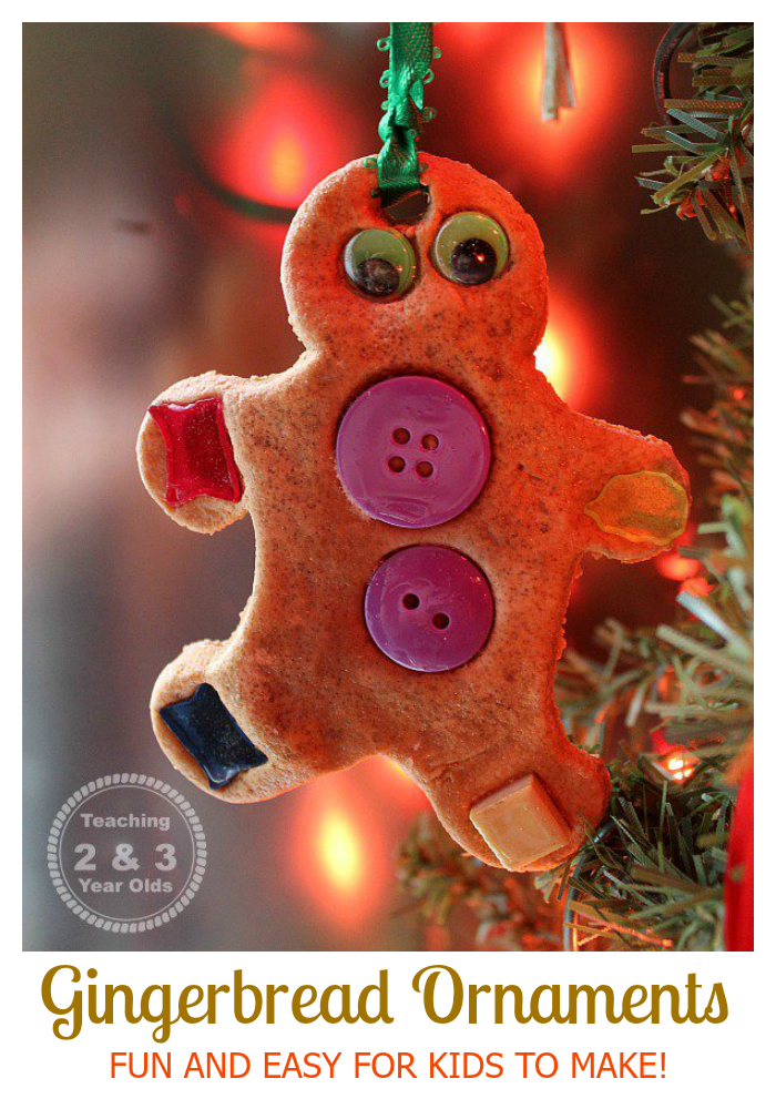 Easy Gingerbread Ornaments for Preschoolers