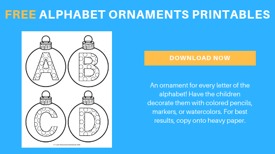 free alphabet ornaments printable