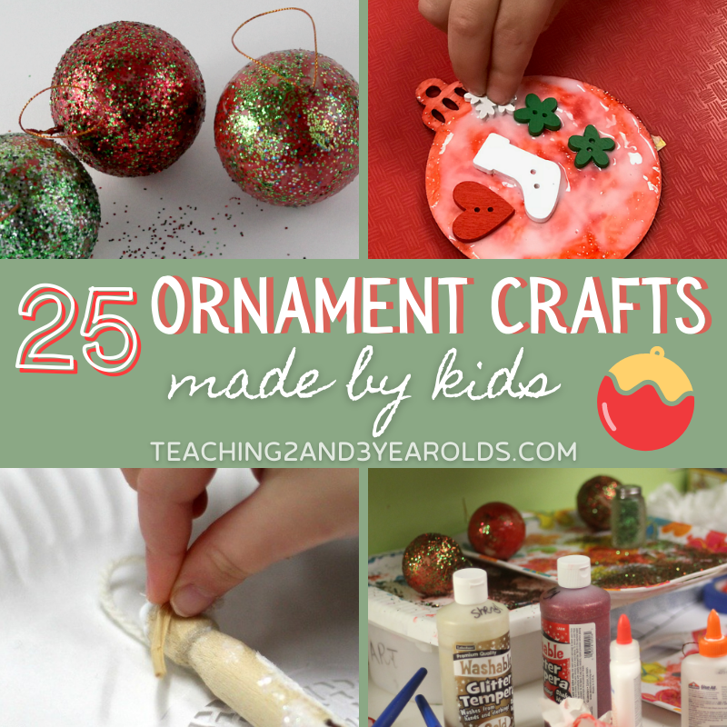 Over 25 Homemade Christmas Ornaments for Kids {Cute!}
