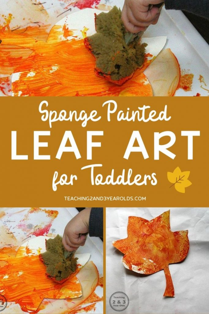 Fall Toddler Leaf Art {Fun Sponge Painting!}