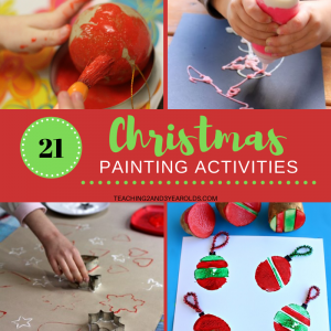 21 Preschool Christmas Painting Activities that are Super Fun