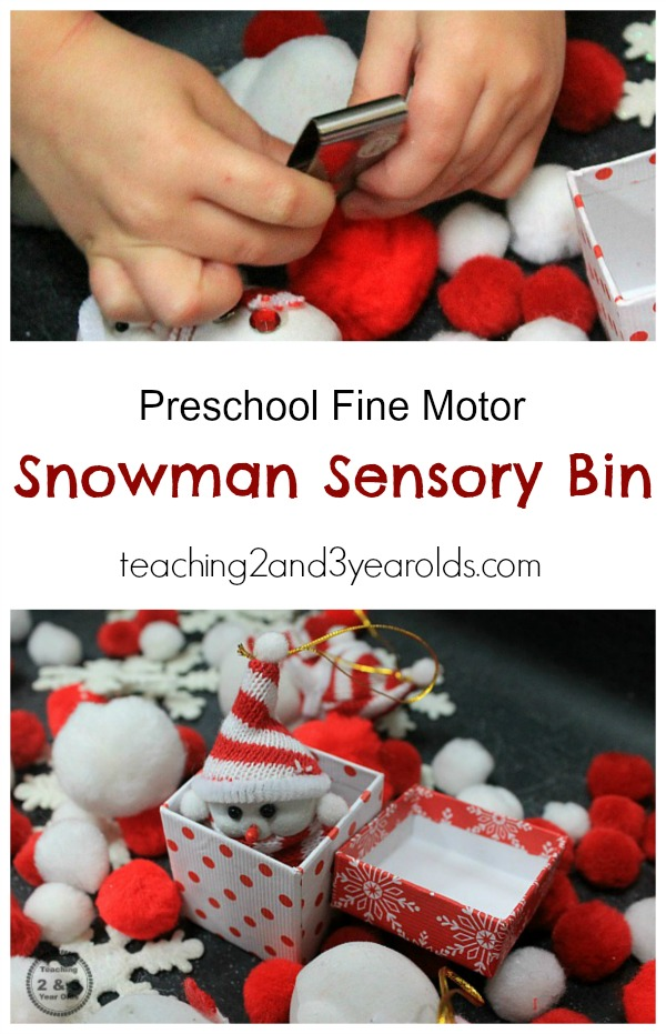 Snowman Sensory Play