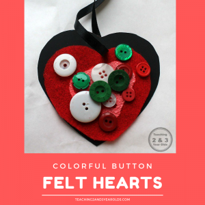 Colorful Felt Preschool Valentine's Craft