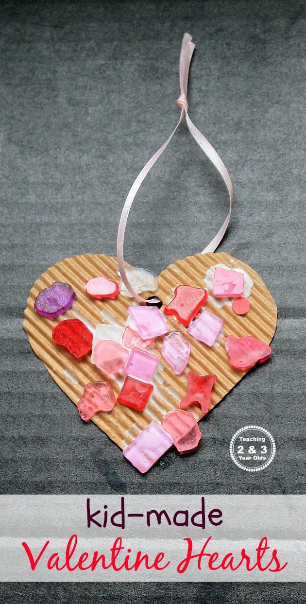 Simple Heart Craft for Preschoolers