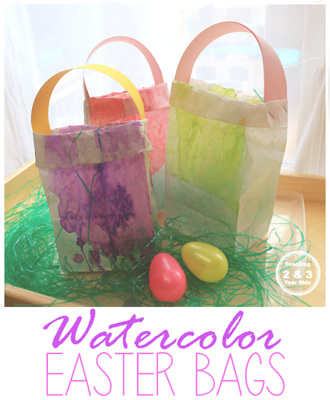 How To Make Homemade Watercolor Bags For An Easter Activity