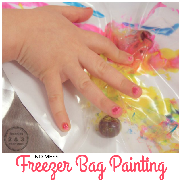 No mess freezer bag painting