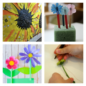 preschool spring activities using flowers