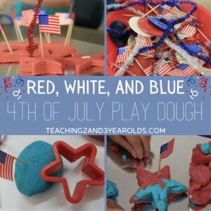 4th of July playdough activity