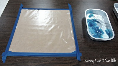 Fine Motor Activity with Sticky Paper