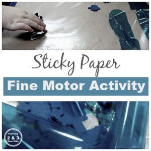 Fine Motor Sticky Paper