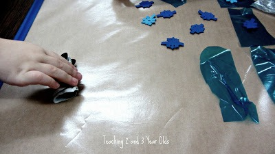 Fine Motor Activity with Sticky Paper