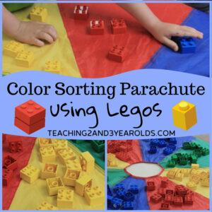Easy Preschool Color Activity with Legos