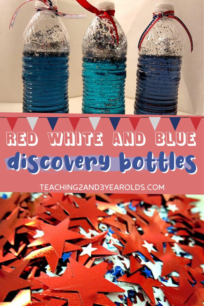 preschool 4th of July discovery bottles