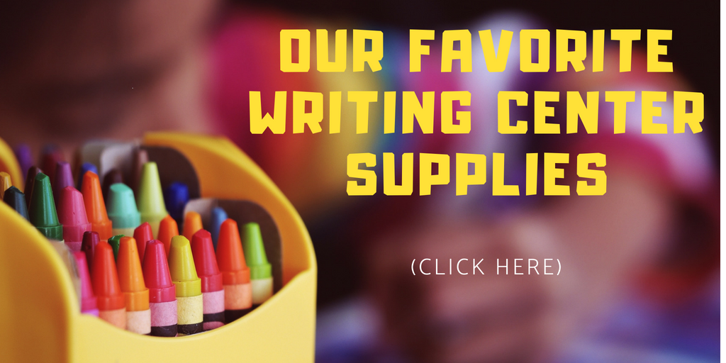 preschool writing center supplies