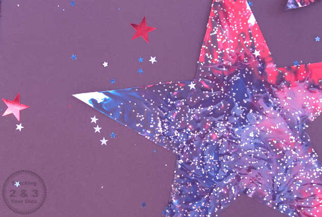 Fun Independence Day Art with Painted Stars
