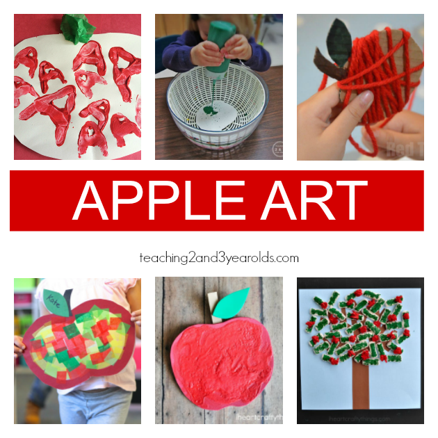 Preschool Apple Theme Art Ideas - Teaching 2 and 3 Year Olds