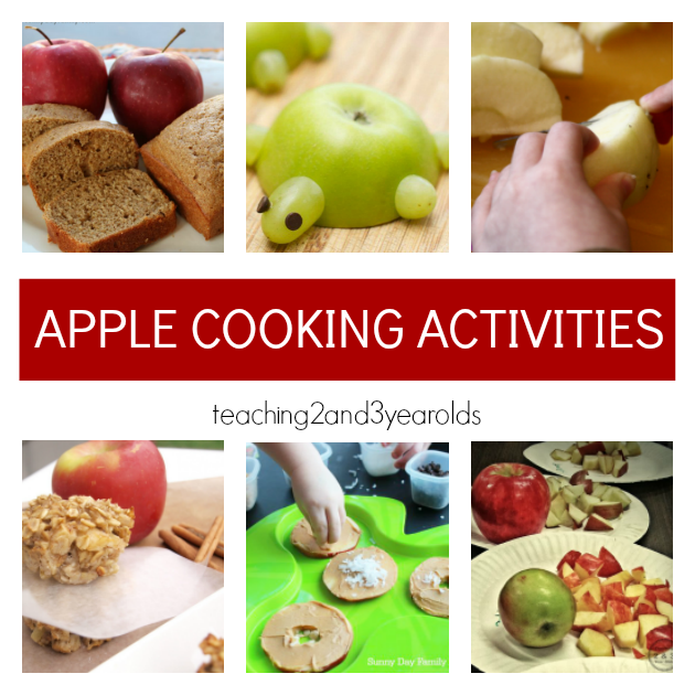 Preschool Apple Theme Cooking Ideas - Teaching 2 and 3 Year Olds