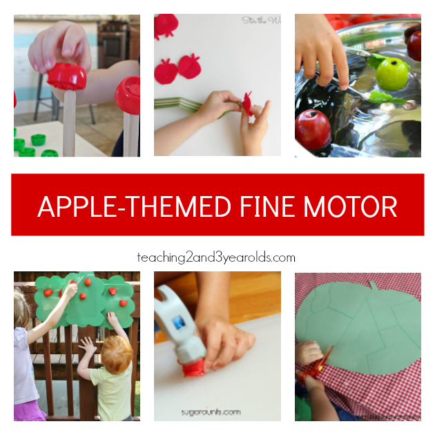 Preschool Apple Theme Fine Motor Ideas - Teaching 2 and 3 Year Olds