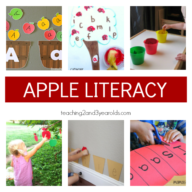 Preschool Apple Theme Literacy Ideas - Teaching 2 and 3 Year Olds