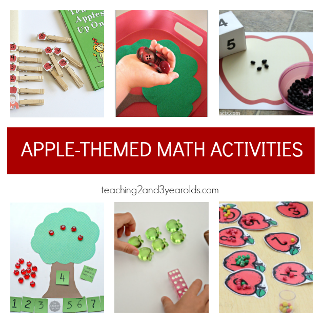 Preschool Apple Theme Ideas for math - Teaching 2 and 3 Year Olds