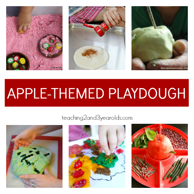 Preschool Apple Theme Ideas for play dough - Teaching 2 and 3 Year Olds