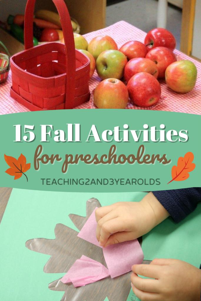 15 Fall Activities for Preschoolers
