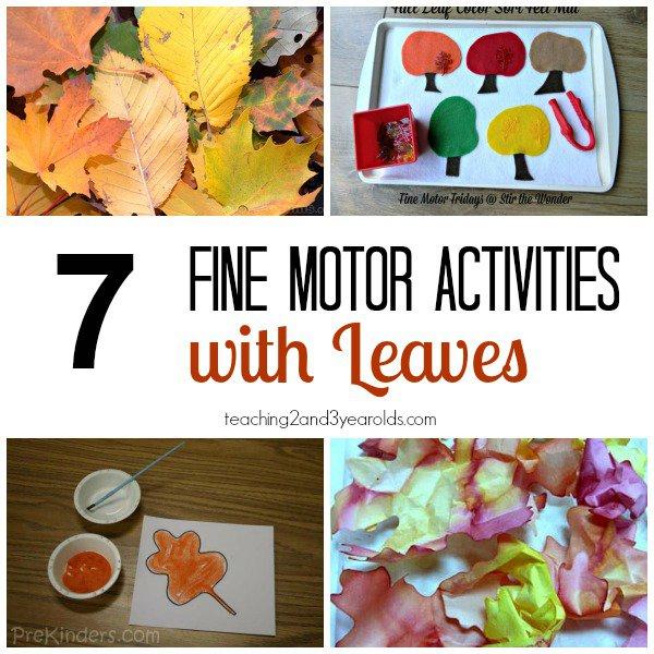 Fall Fine Motor Activities For Preschoolers