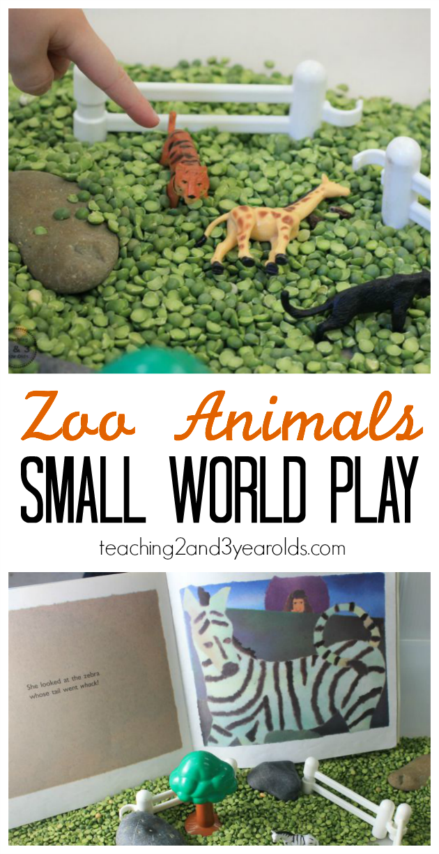 zoo small world play - teaching 2 and 3 year olds -