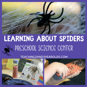 Learning About Spiders at the Preschool Science Center