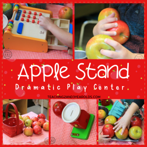 Apple Stand Dramatic Play for Toddlers and Preschoolers