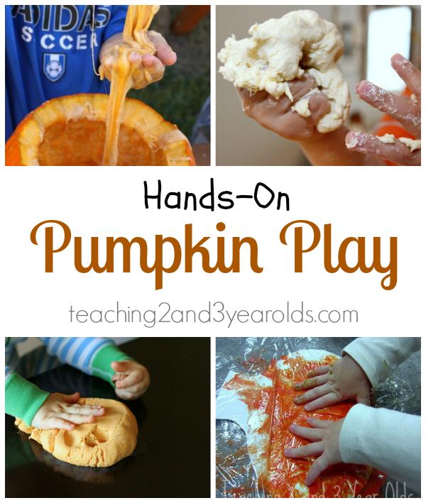 hands on pumpkin play