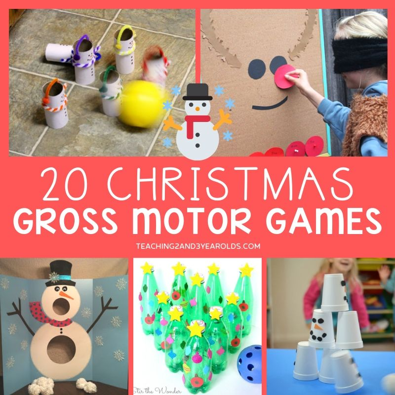 Christmas gross motor games