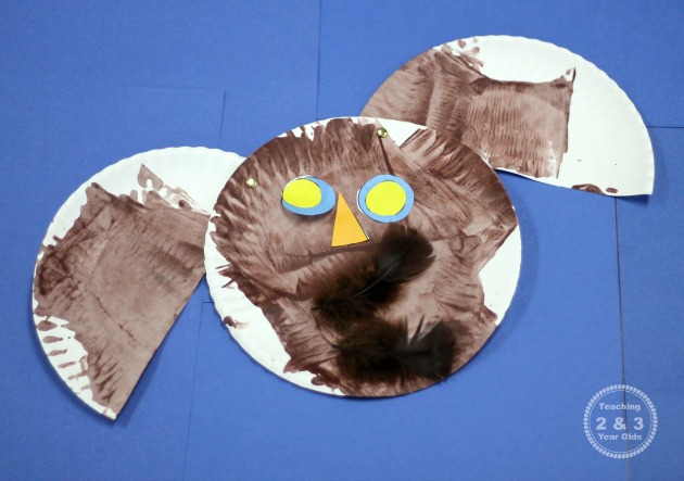 Paper Plate Owl for Preschoolers