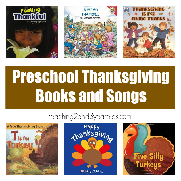 Preschool Thanksgiving Books and Songs