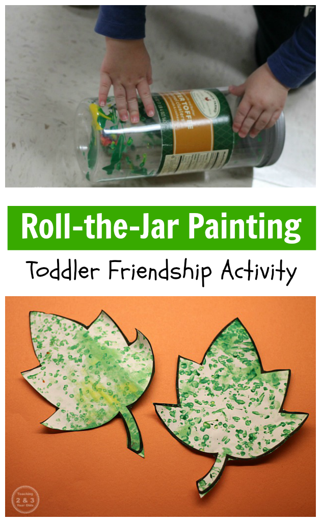 easy toddler friendship art