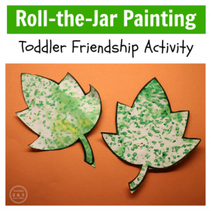 How to Encourage Toddler Friendship with Art (Printable)
